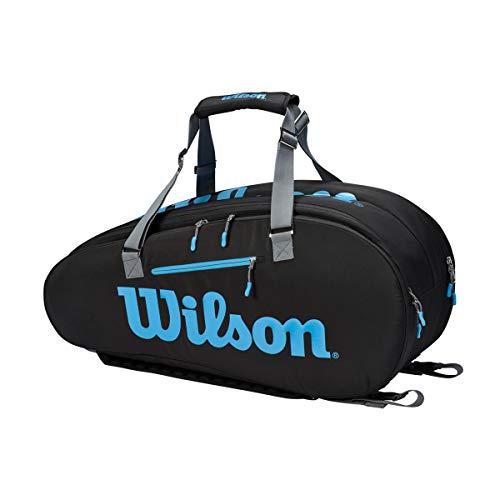 Wilson Tennistasche Ultra, 6 Fächer, Bis zu 9 Schläger, Blau, WR8009401001