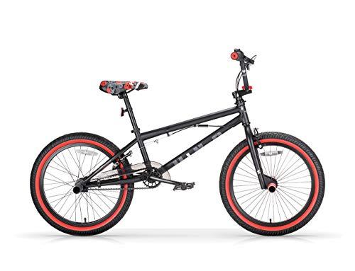 MBM BMX U-N+O, Bici da Freestyle Unisex Bambini, Nero A01, 20'