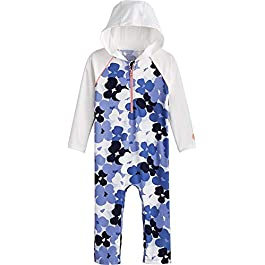 Coolibar UPF 50+ Baby Finn Hooded One-Piece Swimsuit –...