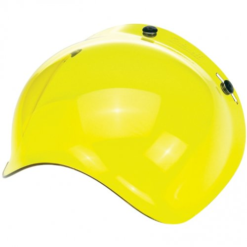 Motorcycle storehouse Biltwell Bubble – Visera de Casco Jet amarillo