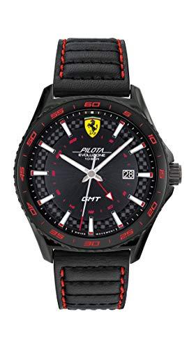 Scuderia Ferrari Reloj Analógico para Hombre de Cuarzo con Correa en Acero Inoxidable 0830776
