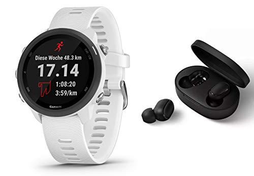 Garmin Forerunner 245 Music - GPS Laufuhr/Smartwatch mit Musikfunktion - weiß - inkl. Bluetooth Headset
