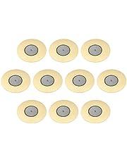sourcing map Discos piezoeléctricos de 50 mm Pastilla acústica de Transductor, Zumbador de cerámico para Batería y Guitarra 10 unidades