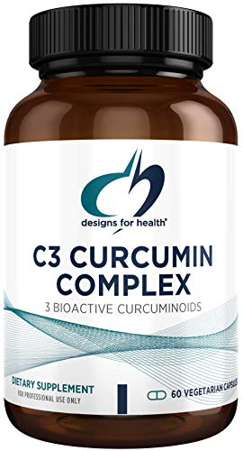 Designs for Health C3 Curcumin Complex - 95% Curcuminoids, 400mg from 3 Turmeric Curcuminoids (60 Capsules)