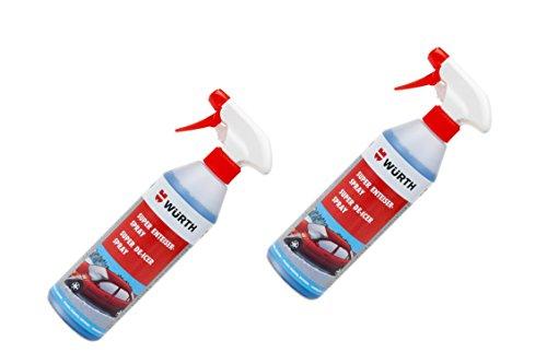 2 x Würth Enteiserspray blau (4038898772293) 500ml Scheibenenteiser Spray