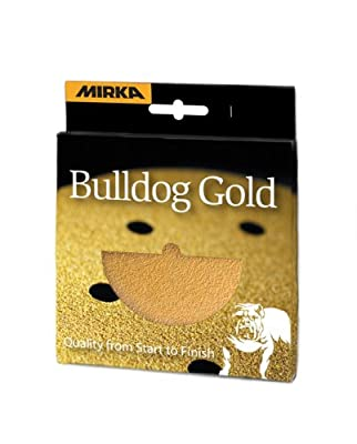 Mirka 10 pieces. 5-Inch 8-hole grip Gold discs