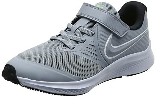 Nike Star Runner 2 (TDV), Sneaker Unisex-Baby, Wolf Grey/White-Black-Volt, 27 EU