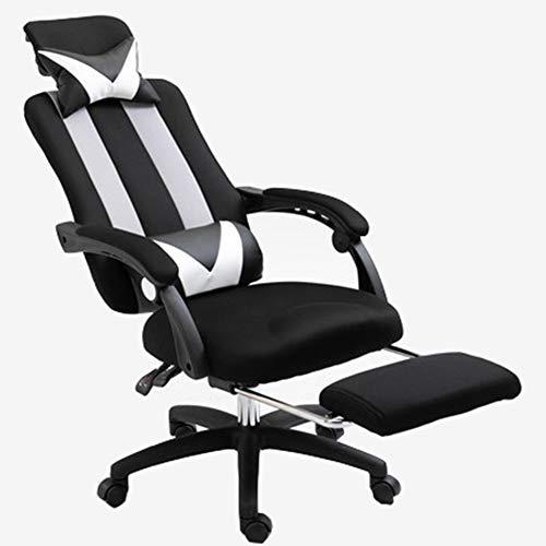 MIAO. Home Bürostuhl Computerstuhl Liegestuhl Ergonomisch Gaming Chair Lift Chair Mesh Staff,Schwarz