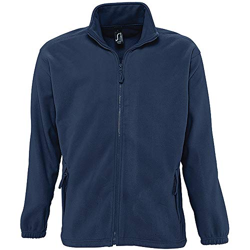 Sols Herren Outdoor Fleece Jacke North (2XL) (Marineblau)