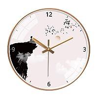 TXOZ 大きな丸い壁掛け時計、ビッグ読み取り可能な番号カラフルエルクウォールウォッチ、リビングルーム、キッチン、オフィスのためのモダンな外観パーフェクト、学校(10/12インチ) (Color : B, Size : 12in(30.5cm))