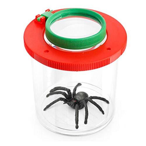 Lupa observación al Aire Libre Insecto pequeño Animal 3 Veces 6 Veces Reptil araña Hormiga Rompecabezas Infantil Lupa Caja de Almacenamiento de Insectos