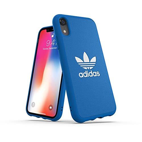 adidas Moulded Logo - Carcasa para Apple iPhone XR, Color Azul y Blanco