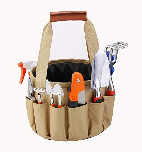 D-shoes Garden Tool Organizer Tote Bag with 10 Piece Garden Tools,Best Gardening Gift Set,Vegetable Garden Tool Kit,Gardening Hand Tools Set Bag