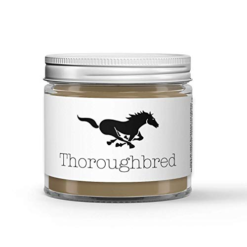 Thoroughbred Horse Candle - Saddle - Dirt - Hay - Carrots Scented - Made with 100% Vegan Soy Wax and Premium Fragrance - Available in 3 Adorable Sizes and Wax Tart