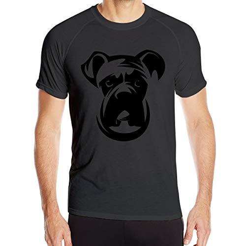 Perro Boxer Camiseta de Secado rápido para Hombres Camiseta Militar Camiseta de Senderismo para Acampar al Aire Libre para Hombres de Manga Corta