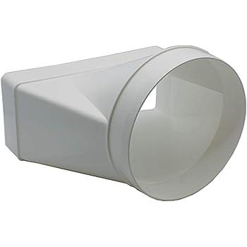 White Blauberg UK BLAUFLEX PVC//127//6 Plastic PVC Tumble Dryer Hose Duct Pipe 125 mm x 6 m