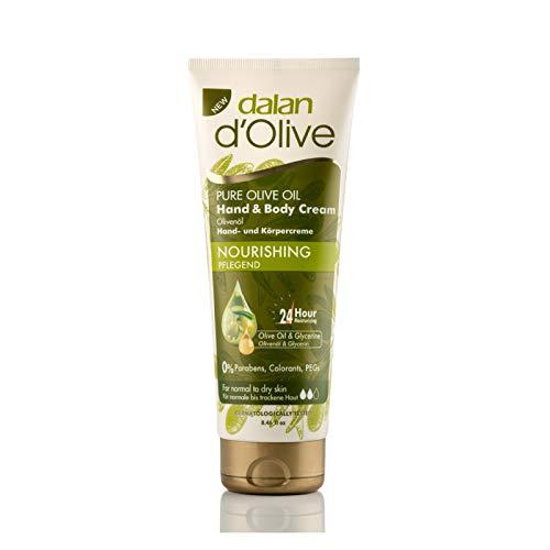 6 x Dalan d'Olive Hand & Körper Feuchtigkeitscreme für normale bis trockene Haut - 75ml
