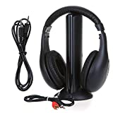 Wireless Headphones RF High-Fidelity with Monitoring+FM Radio for PC TV Net Chat MH2001 5-in-1 Hi-Fi S-XBS Wireless Headphone