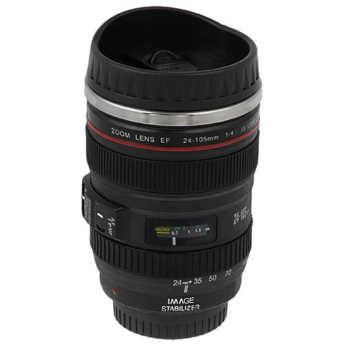 Price comparison product image Thermo Lenscup with Stainless Steel Insulated Tumbler (Modeling 1:1 Canon EF 24-105mm f / 4L IS USM Lens)