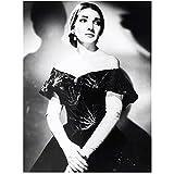 FACAIA Maria Callas Opera Sängerin Schwarz-Weiß,