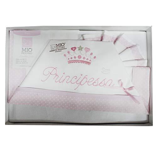 """Compose' Baby-Bettwäsche MIO PICCOLO Baumwolle bestickt """"Prinzessin"""" rosa"""