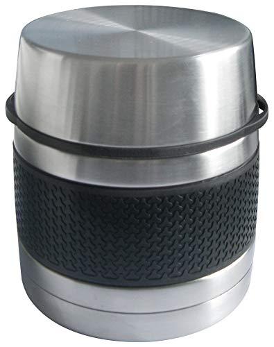 Bcalpe Thermos Solido, Acciaio Inox, Nero e Argento, 15x 13x 13cm