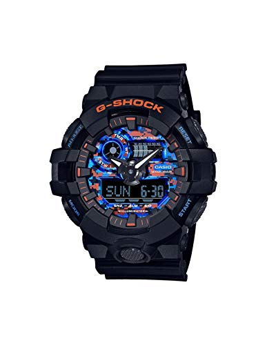 Reloj Casio G-Shock City Camouflage Negro Azul Naranja GA-700CT-1AER