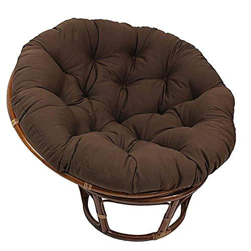 Cojín para Silla Thicken Papasan,Almohadillas para sillas para Exteriores,se Hunden en Nuestro cojín Grueso y cómodo para Silla Papasan (Funda Impermeable),Marrón,47.24 * 47.24in