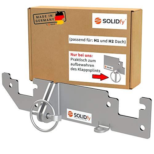 SOLIDfy® - Hecktürverriegelung H1 / H2 Dach Einbruchschutz Hecktür Prick Stop Sicherung für Ducato, Jumper, Boxer X250 X290