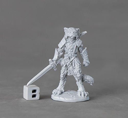 Reaper Miniatures 03893 Mal, Catfolk Warrior, Metal Miniature