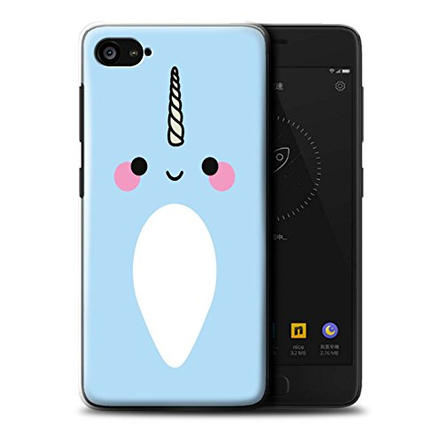 Stuff4 Phone Case/Cover/Skin/lnv de CC/Cute Narwhal Unicorn Collection Kawaii/Blau Lenovo ZUK Z2