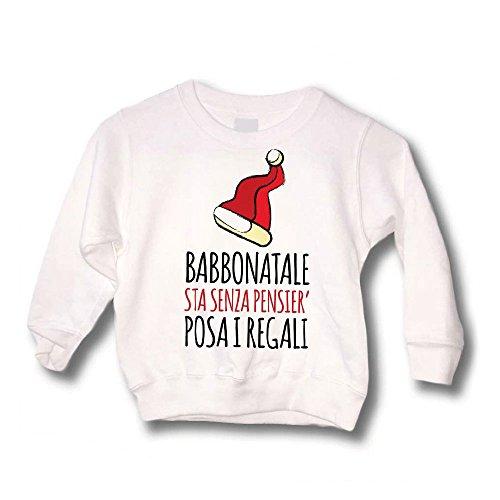 Altra Marca Felpa Bimbo Maglione Natalizio Personalizzato Bambino Babbo Natale Sta Senza Pnsier