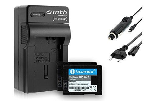 2 Baterìas + Cargador (Coche/Corriente) para Canon BP-827/ Legria HF G10, G25, M31, Vixia. Ver Lista