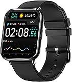 Bengux Smartwatch Orologio Fitness Uomo Donna,1.69'' Full Touch Smart Watch Sonno Cardiofrequenzimetro, Notifiche Messaggi, Contapassi, Impermeabil IP68,Activity Tracker per Android iOS(Nero)