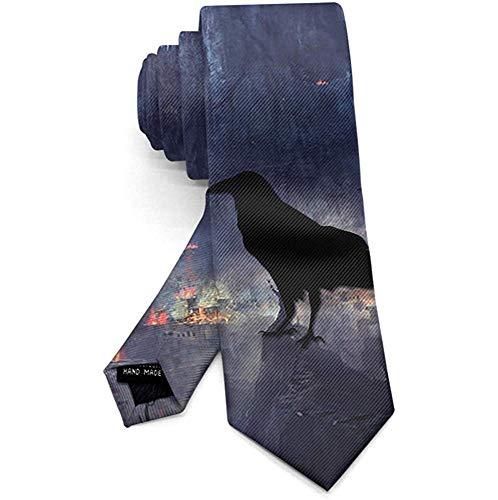 Kasteel Crow Ravens Bos Mannen Necktie Mode Tie voor pak College Festival