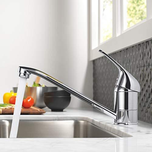 360° Drehbar Wasserhahn Küche, WOOHSE Küchenarmatur Mischbatterie für Küche, Hochdruck Armatur Küche, Spültischarmatur Waschtischarmatur für Bad/Spülbecken, Lebenslange Garantie