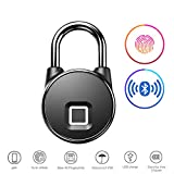 Smart Fingerprint Lock Bluetooth 4.1 Lucchetto per Impronte Digitali Portatile Nessuna Password...