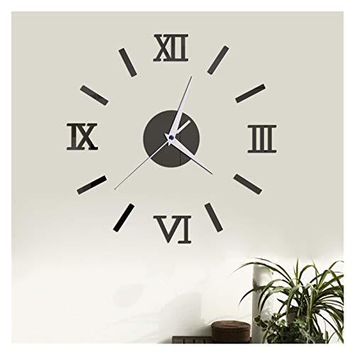LUJIAN 2021 Nuevo Reloj De Pared 3D Espejo Moderno Pegatinas De Pared Moda Sala De Estar Reloj De Cuarzo DIY Decoración del Hogar Relojes Pegatina (Color : C)