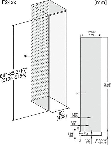 Miele Mastercool F 2411 Vi - Congelador monopuerta (45 cm): Amazon ...