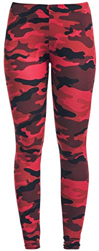 RED by EMP Built for Comfort Frauen Leggings Camouflage/rot S