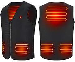 Haofy Verwarmd vest met USB-aansluiting, voor heren en dames, elektrisch verwarmd jack met 3 temperaturen, voor outdoor,...