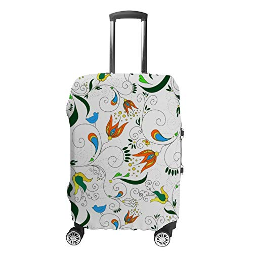 Travel Luggage Cover Paisley Design Bright Suitcase Protector Fits 30-32in Luggage Washable Baggage Protective Cover