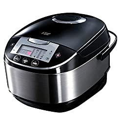 Russell Hobbs Multi-Cooker 21850, 5 L – Stainless Steel Silver and Black