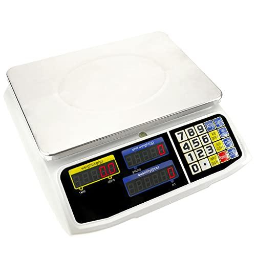 PrimeMatik - Balanza mostrador de sobremesa con Bandeja de 300x205 mm Báscula de Tienda de 6 Kg