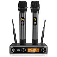 Tonor Dual Wireless Dynamic Microphones with Receiver