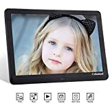Upgraded Digital Photo Frame With 32GB SD Card 10 Inch NAPATEK Digital Picture Frame 1920x1080 High Resolution 16:9 IPS Screen Image Preview 180/° View Angle Display Photo//Music//Video Player Calendar