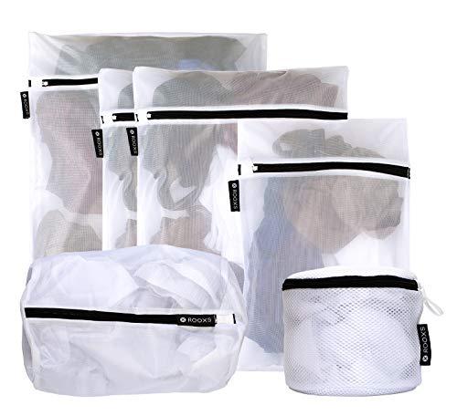 Rooxs Profi Wäschenetze (6er Set) Wäschesack für Waschmaschine