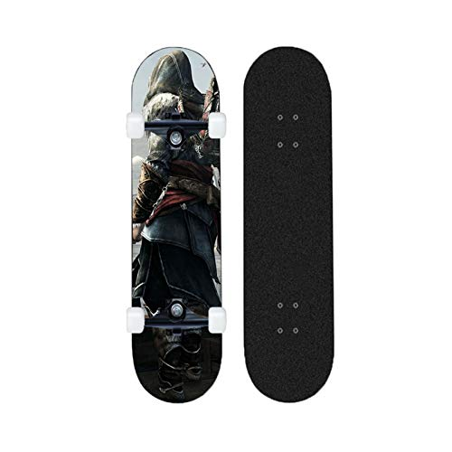 Yizhi Skateboard Longboards, Assassin'S Creed Professional Standard Skateboards para Adultos Adolescentes 80 * 20 cm