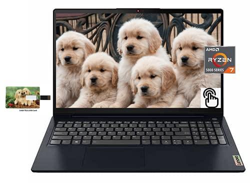 "Newest Lenovo IdeaPad 3 15.6"" FHD IPS Touchscreen Business Laptop, AMD Ryzen 7 5700U, 32GB RAM 1TB..."
