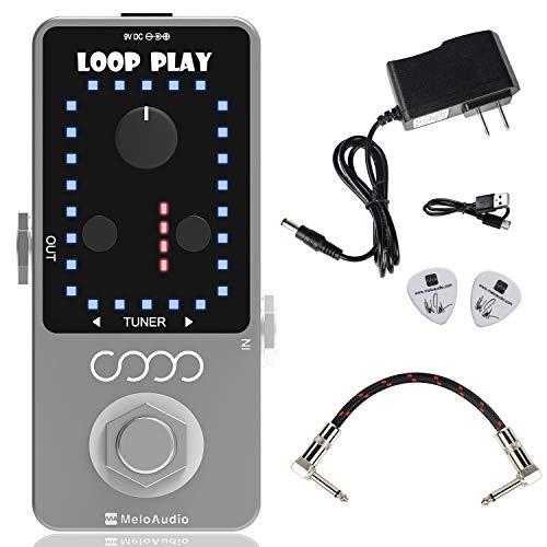 MeloAudio Guitar Looper Pedal Loop Effects 10 Minuten Looping Time Loop Station 9 Loops 40 Minuten Aufnahmezeit mit USB-Kabel für E-Gitarre Bass Durm
